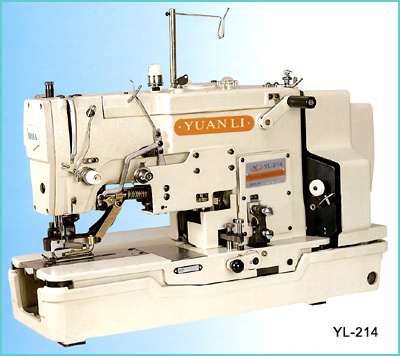 YL-214 HIGH SPEED LOCKSTITCH STRAIGHT BUTTON HOLING MACHINE